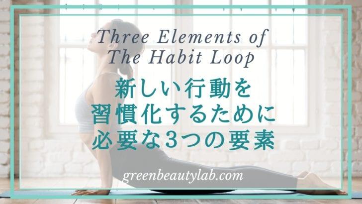 習慣化するために必要な3つの要素