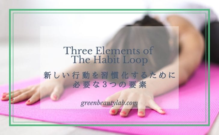 新しい行動を習慣化にするために必要な3つの要素